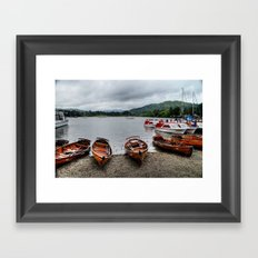 Ambleside Boats Framed Art Print