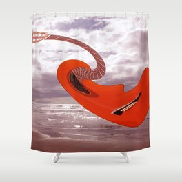 dali's guitarra Shower Curtain