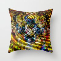asia Throw Pillows featuring Asia by pystali