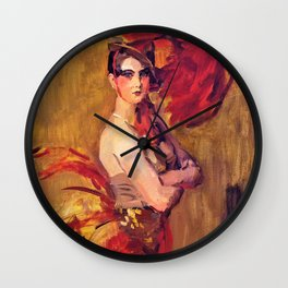 Show-girl, La Cocotte, At Scala Theatre, The Hague - Digital Remastered Edition Wall Clock