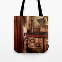 moby dick Tote Bags featuring Moby Dick by Leon T. Arrieta