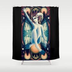 Baphomet Deck Shower Curtain