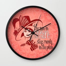 The rain in Spain Wall Clock