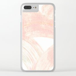Pink Swipes Clear iPhone Case
