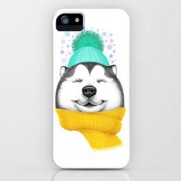 Winter Husky iPhone Case