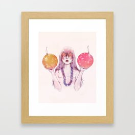 Naughty or Nice Framed Art Print