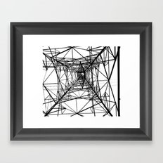 Large Electricity Powermast Framed Art Print
