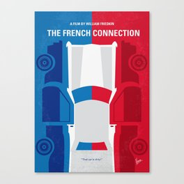 No982 My The French Connection minimal movie poster Canvas Print