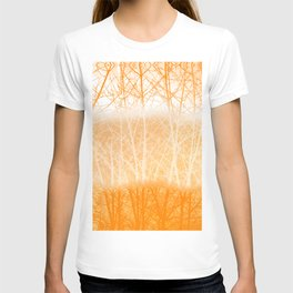 Frosted Winter Branches in Dusty Orange T-shirt