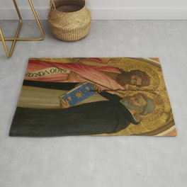 "Fra Angelico (Guido di Pietro) ""Saint John the Baptist and Saint Dominic"" Rug"