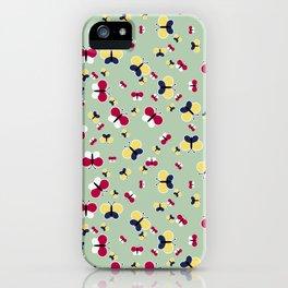 Crisscross Butterflies - Pistachio Color iPhone Case