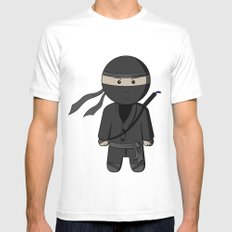 Ninja White MEDIUM Mens Fitted Tee