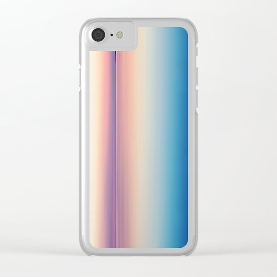 Color Layers Sunrise Sea Clear iPhone Case