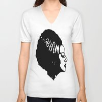 bride V-neck T-shirts featuring Bride by Abstractink82