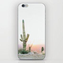 saguaro print, cactus print, botanical print, desert print, desert art, cactus wall art, arizona iPhone Skin