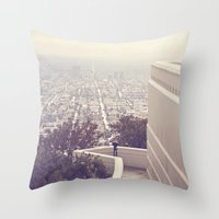 vermont Throw Pillows featuring Vermont Avenue by CMcDonald