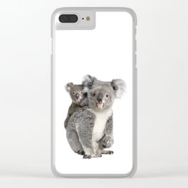 Koala bear and her baby Clear iPhone Case