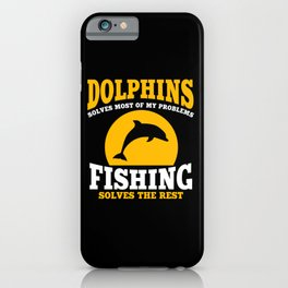 Dolphins And Fishing iPhone Case