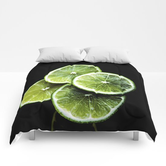 lemon lima Comforters