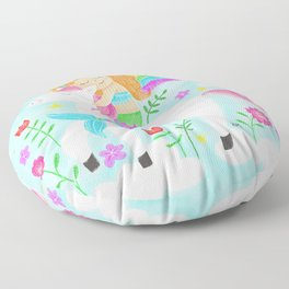 Unicorns, Mermaids & Rainbows...Oh My! Floor Pillow
