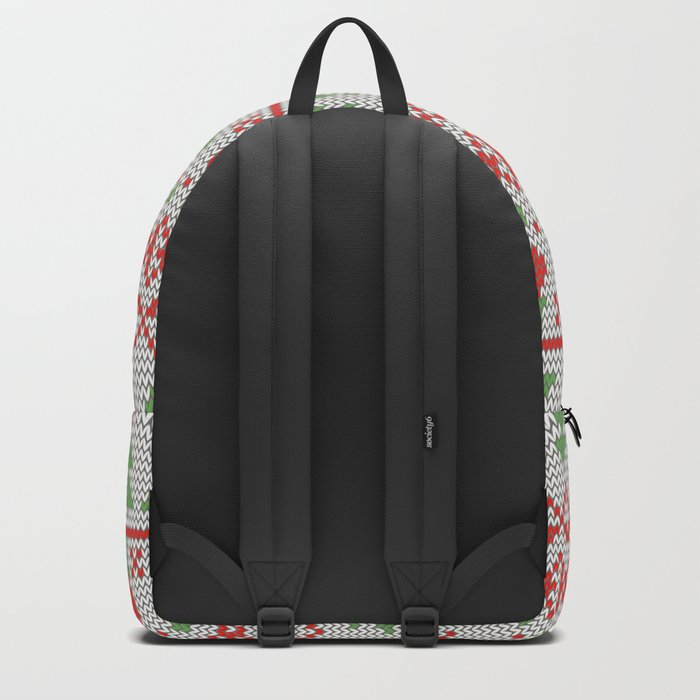 2 Knitted Christmas pattern in retro style pattern Backpack