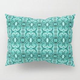 Teal & White Curly Spirals Pillow Sham