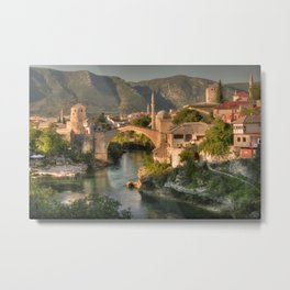 The Old Bridge of Mostar Metal Print