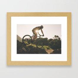 Man in the bike Framed Art Print