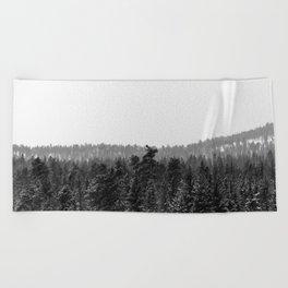 Colorado Winter Trees Beach Towel