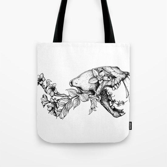 Prehistoric Bloom - The Cat Tote Bag