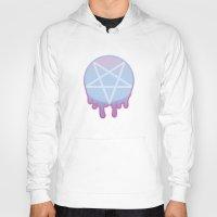 pentagram Hoodies featuring Pastel Pentagram by judas