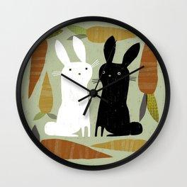 CONTRAST & CARROTS Wall Clock
