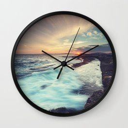 Setting over Surf Wall Clock