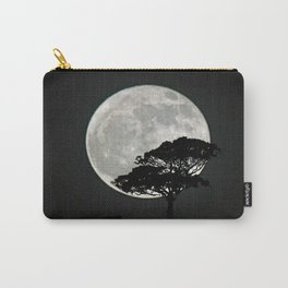 Lone Tree And Moon. Carry-All Pouch