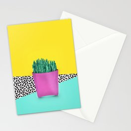 Cactus Fries 90s Style Stationery Cards