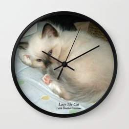 Lucy The Cat And Little Brother Cristiano Wall Clock
