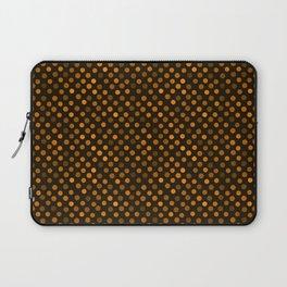 Retro Colored Dots Fabric Pumpkin Orange Laptop Sleeve