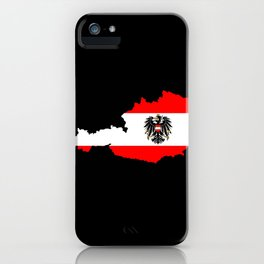 Austrian Flag and Map iPhone Case