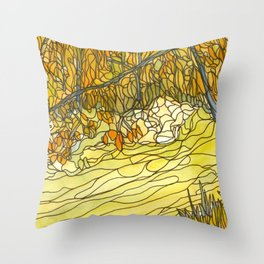 Eno River #25 Throw Pillow