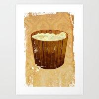 2 Mice and the Bucket of Milk Art Print