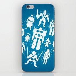 Plastic Heroes iPhone Skin