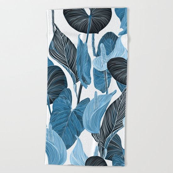 Lush Lily - chambray Beach Towel