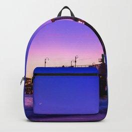Santa Monica purple sunset Backpack