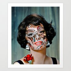 Gina / Headcut (2014) Art Print
