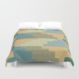 Shapes and dots Duvet Cover
