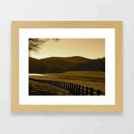 Down the Golden Loop Framed Art Print