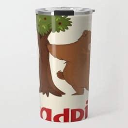 MADRID: Bear and Madrono (v.2) Travel Mug