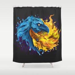 Eagles Elemental Yin Yang Shower Curtain