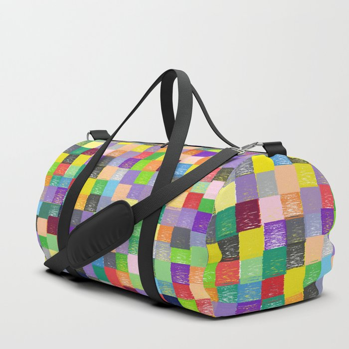 Pixelated Patchwork Duffle Bag