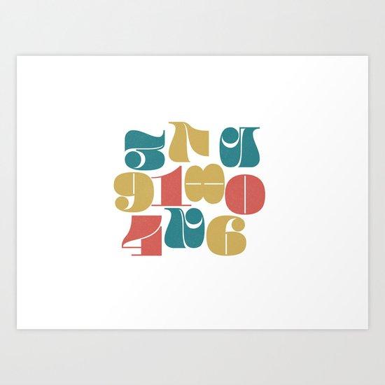 Numerals Art Print
